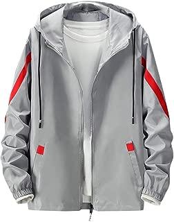 Men's Autumn Winter Casual Outwear Fashion Loose Tops Hoodie Sport Thin Coat