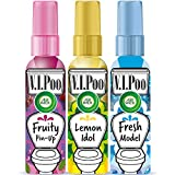 Air Wick VIPoo Spray para el WC Frutas del Bosque + Limón + Lavanda - 3 Unidades x 55 ml