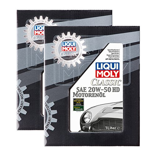 2x LIQUI MOLY 1128 Classic Motorenöl SAE 20W-50 HD ab Baujahr 1950 1L