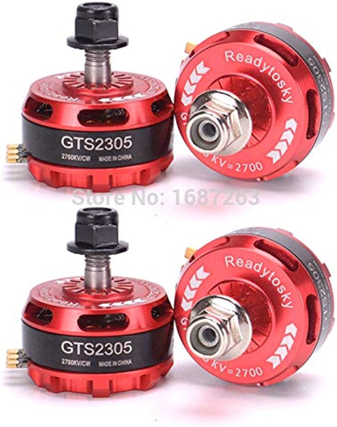 Laliva GTS2305 2305 2700kv Brushless Motor 35S for QAVX 214 VX210 Wizard X220 FPV RC Racing Quadcopter  (color  1CW and 1CCW)