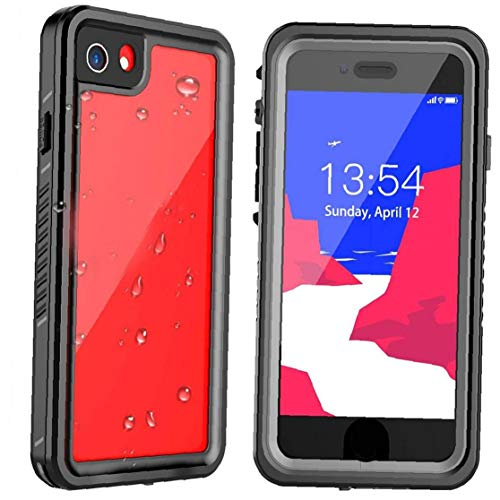 AtheMeet Teléfono de protección Anti-Scrach Apta del Caso para iPhone SE 08.07.2020 Choque Impermeable Absorción Caso Negro Claro