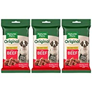 3 x Packs of Real Beef mini treats (for small dogs) 60g packs - Natures Menu - Made with 95% REAL ME...