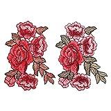 EXCEART 2 Piezas de Parches de Flores Rosas para Coser en...