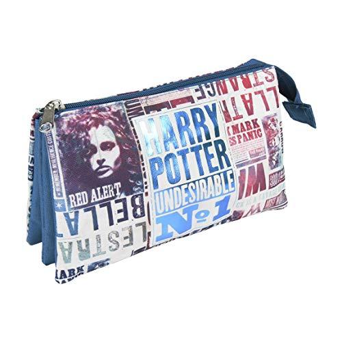 Artesania Cerda Harry Potter - Estuche 3 Compartimentos