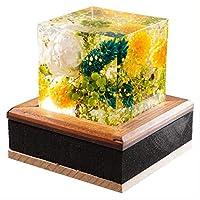 GRACE クリスタルアートリウム ® ブライトグリーン 固める ハーバリウム プリザーブドフラワー ギフトボックス 花 おしゃれ かわいい プレゼント