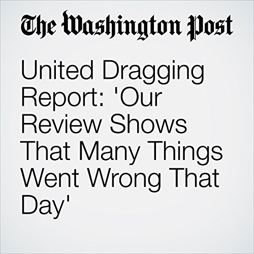 United Dragging Report: 'Our Review Shows That Many Things Went Wrong That Day' copertina