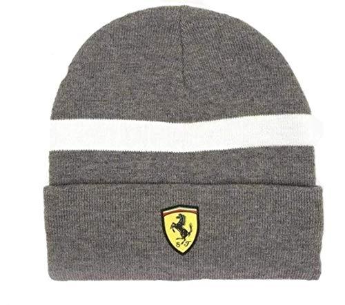Ferrari Unisex SF Strickmütze/Beanie, Grey, Einheitsgröße