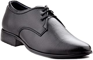 Zebra Men's Derby 100% Pure Pu Leather Black Shoes.