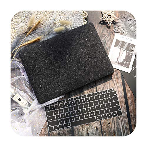 Marble Flower Pattern Laptop Case Keyboard Cover for New MacBook Pro 13 2020 A2338 Air 13.3 15 inch Retina Touch Bar A2251 A1932-Black-A1706 A1989 A2159