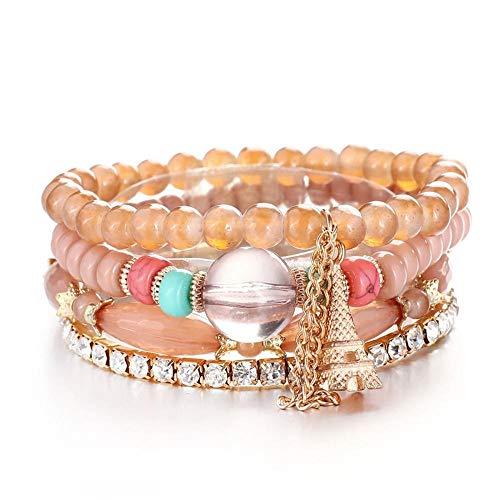 MNJLB Damesarmband, natuursteen, kralen, vleugels, kwast, charme, armbanden en armbanden, vintage sieraden