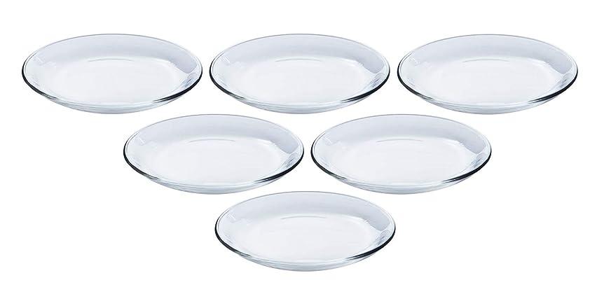 ライバル脚つま先東洋佐々木ガラス 中皿 アルファ プレート18 約φ18×2.2cm 日本製 食洗機対応 P-19306 6個入り