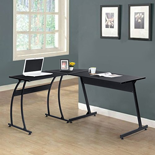 furniturer grande a forma di L angolo scrivania tavolo PC Workstation 154x 117x 74cm