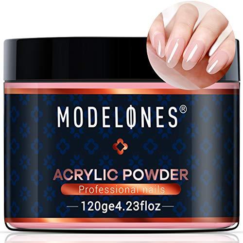 Modelones 4.23oz Nude Bare Nail Acrylic Powder Natural Nude Color Nail Art Powder