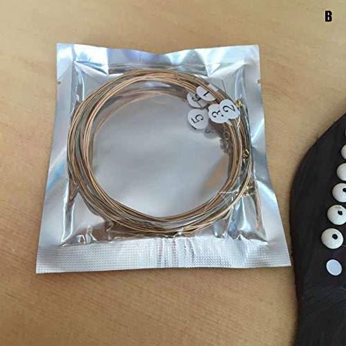 Juntful Universal E-Gitarrensaiten Carbon Fiber Metall Saiten für Musikinstrumente Gitarren, B