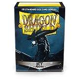 Arcane Tinmen ART11024 Mangas: Dragon Shield Matte Jet (100) Tamaño estándar 100 PK-Jet