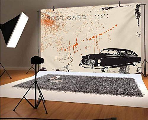 Telón de fondo de vinilo para fotografía de coche vintage de 5...