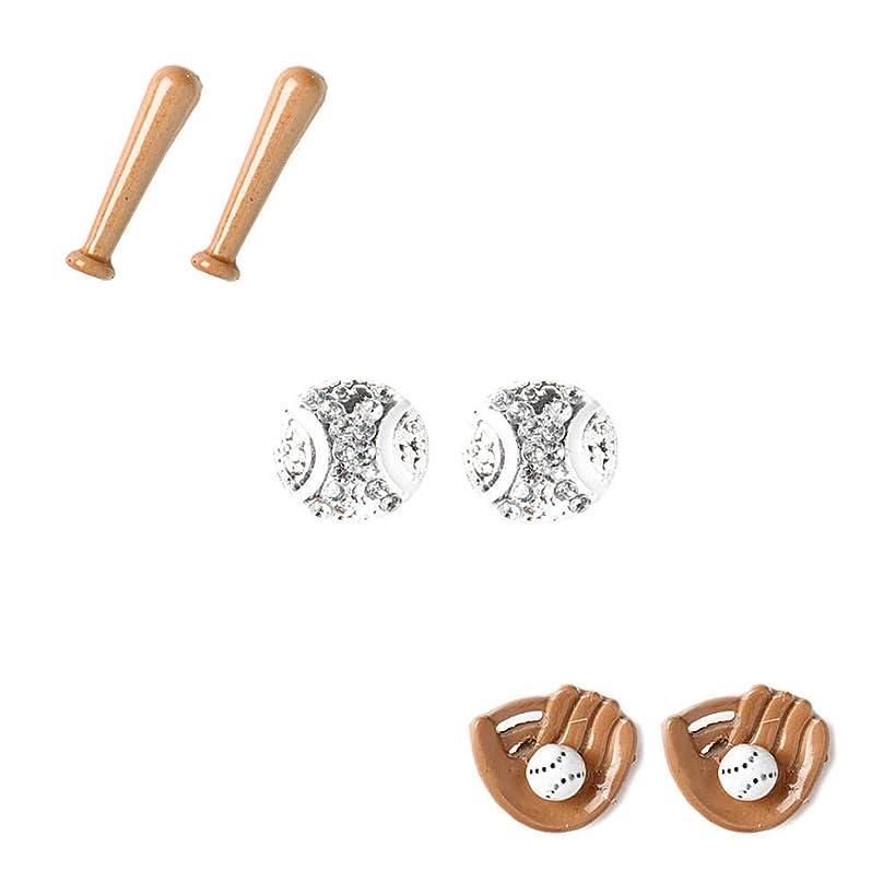 Claire's Girl's Baseball, Mitt & Bat Stud Earrings - 3 Pack