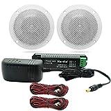 Herdio 4 pouces Kit Bluetooth Haut-Parleur De Plafond Amplificateur Bluetooth Haut-Parleurs Résistant À L'eau Pour Salle De...