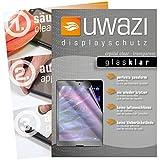 uwazi I 3X Glas-klare Schutzfolie für Medion Lifetab P9702 Bildschirmschutzfolie I Folie I Anti Fingerabdruck I Anti Kratzer