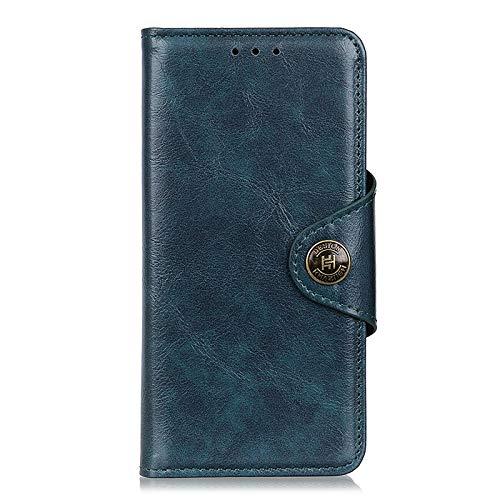 NEINEI Handyhülle für Xiaomi Poco X3 Pro/X3 NFC Hülle,PU/TPU Lederhülle Klapphülle mit [Magnetisch][Kartenfach][Stand],Echtes Rindsleder Handytasche Schutzhülle Flip Cover Hülle,Blau