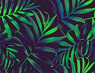 3D Green Leaf 169 Wall Paper Print Decal Deco Indoor Wall Mural Self-adhesive Wallpaper AJ WALLPAPER AU Zoe (416x254cm(WxH...