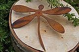 LDesign Edelrost Libelle mit Schraube zum Eindrehen in jedes Holz Gartendeko