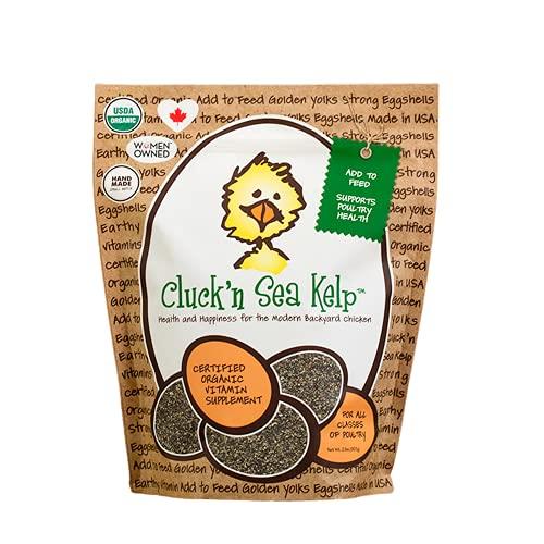 Treats For Chickens Cluck'N - Varech de mer certifié Bio - 0,9 kg - Complément vitaminé