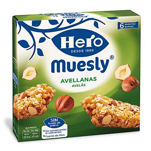 Hero - Barritas de Muesly, Energía Avellanas - 1 pack de 6 barras x 25g (total: 150 g)
