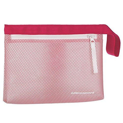 Ultrasport wasserfeste Tasche, wasserabweisender Kulturbeutel für Sport oder Schwimmtraining, auch ideal als Begleiter beim Camping, Pink