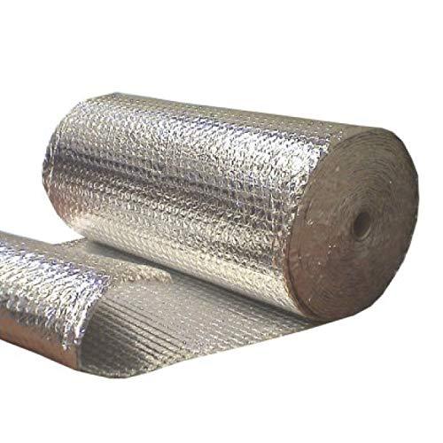 Optimer System - Aislamiento Termico Aluminio Reflexivo multicapa de burbujas de aire - Rollo aislante termico de 24 m², para techo, pared y fachada - Polynum ULTRA