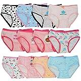Kidear Série Enfants Culotte Culotte Culotte Enfant 12 Pièces sous-vêtements en Coton Doux pour Tout-Petit, âgés de 2 à 10 Ans (8-10 Ans, Style1)
