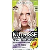Garnier Nutrisse Ultra Color Nourishing Permanent Hair Color Cream, PL1 Ultra Pure Platinum (1 Kit) Blonde Hair Dye (Packaging May Vary), Pack of 1
