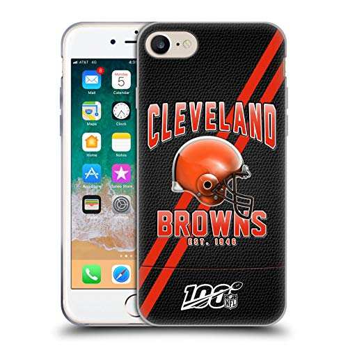 Head Case Designs Ufficiale NFL Strisce Football 100esimo 2019/20 Cleveland Browns Cover in Morbido Gel Compatibile con Apple iPhone 7 / iPhone 8 / iPhone SE 2020