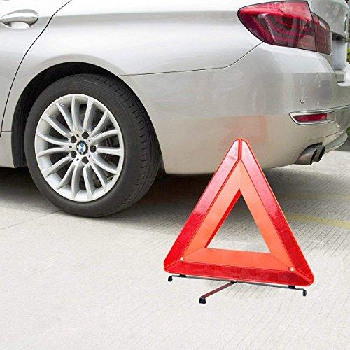 Safekom Reflective Warning Sign Foldable Triangle Car Hazard Breakdown UK//EU Emergency