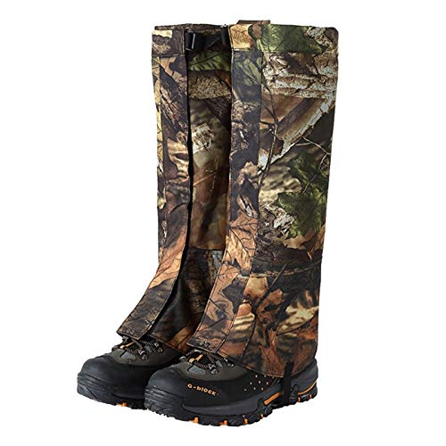 Outdoor Hiking Leg Gaiters, Snow Climbing Mudguard Shoe Covers, Waterproof Leggings, Suitable for Mountaineering, Riding, Jungle Hunting (Color : A, Size : L)
