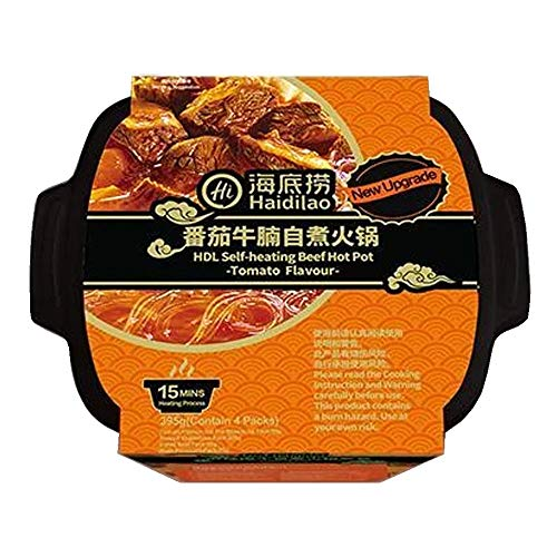 Haidilao Self-Heating Beef Hot Pot Tomato Flavour 395g