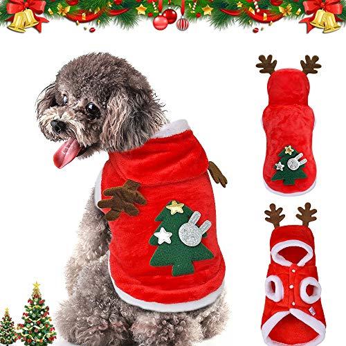 AN Alces De La Navidad del Animal Doméstico Ropa De La Navidad Y La Piel Suave Cómodo Disfraces Friendly Navidad del Perro Casero Diseñado para Mascotas,XS