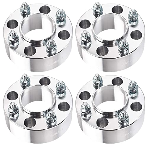PUENGSI 4 Lug Wheel Spacers ATV 4x110 Wheel Adapters & Spacers 2 inch 10x1.25 Studs 74mm 4PCS Silver Fit for 2007-2010 Honda Rancher 420 Rincon 680 Foreman 500 4DW
