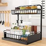 organizador de especias Especiero, Estante de metal de 2 pisos para cocina...