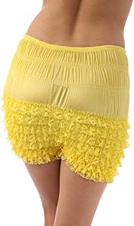 Malco Modes Womens Sexy Ruffle Panties Tanga Dance Bloomers Sissy Booty Shorts (N20 Petite)