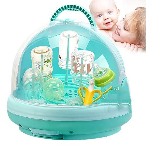 Yhjkvl Trockenständer Babyflaschen Babyflaschen-Wäscheständer und Geschirrtrockner für Kleinkindbecher, Flaschennippelzubehör Space Saver Babyflaschenabtropfgestelle (Color : Green)