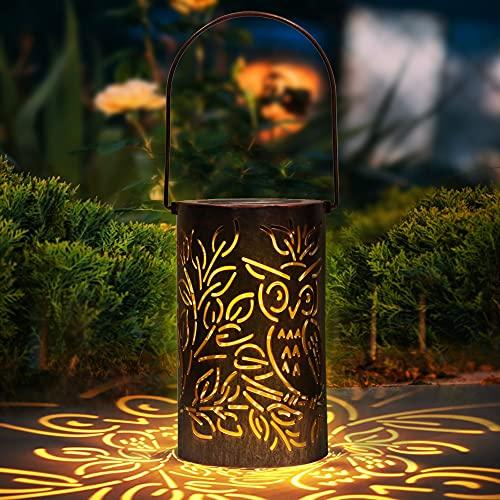 Solarlaterne für Außen LED Solar Laterne Aussen, Solarleuchte Solarlampen Hängend Deko Solarlampen Wasserdichte Solar Licht Nachtlicht für Pathway Veranda Weihnachten