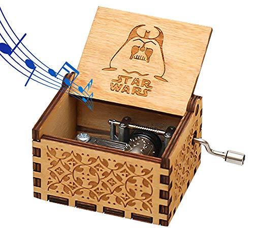 Funmo - Carillon Star Wars in Pura Mano-Classica Carillon in Legno a Mano Creativo in Legno Artigianato Migliori Regali