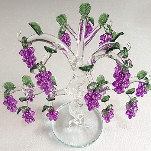 Purple Crystal Glass Grape Christmas Tree Pendant Home Decoration Party Wedding Decoration-Yellow