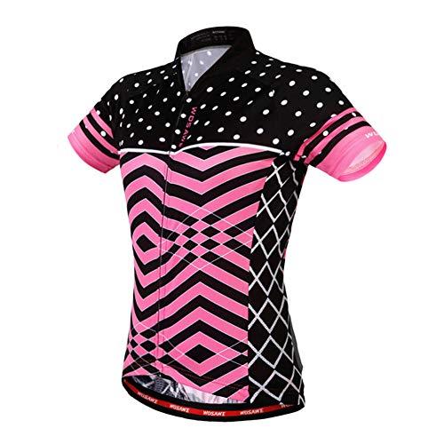 LHY Cylcing T-Shirt, Respirante Vêtements de vélo pour l'été, Détails réfléchissants - pour vélo, Courir, Travelling,M