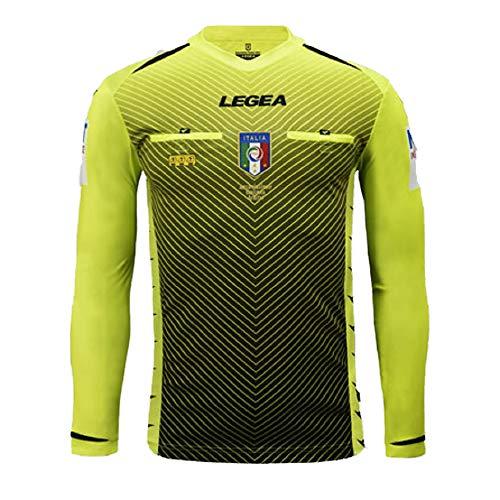 LEGEA 2020/2021 - Camiseta árbitro AIA M/L para Hombre, Amarillo Fluorescente, XL