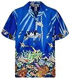 KY´s Original Camisa Hawaiana, Tutles, blue 6XL