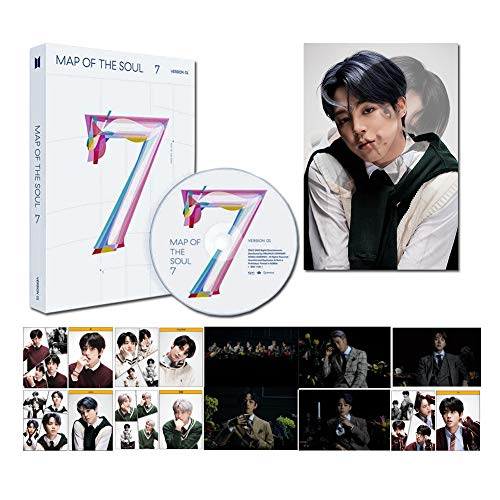 BANGTAN BOYS BTS Map of The Soul 7+Poster Ufficiale+Set di 5 fotografie+1 Scheda lenticolare, Version2, 223 * 295 * 24mm