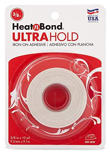 HeatnBond UltraHold Iron-On Adhesive, 3/8 Inch x 10 Yards