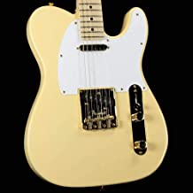 Fender Limited Edition American Professional Telecaster Electric Guitar, Vintage White with Gold Hardware